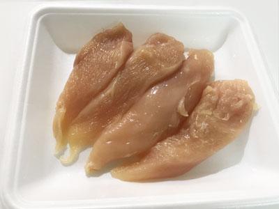 切り分けた鶏肉