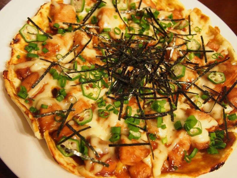 天ぷら粉ピザ